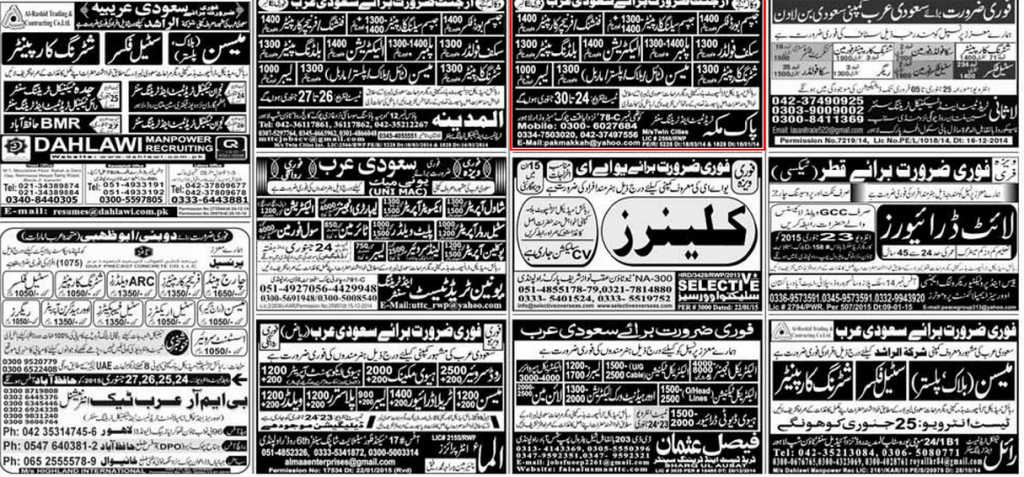 Hundreds of Jobs in UAE & Saudi Arabia 2015