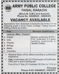 TEACHING JOBS IN KARACHI