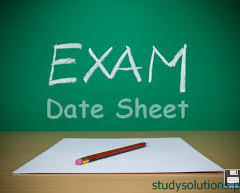 BIEK Karachi Board Inter Part 1, 2 Supplementary Exam Date Sheet 2019
