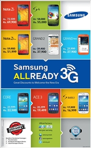 DISCOUNTED PRICES OF SAMSUNG'S 3G MOBILES AND TABS