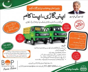 Chief Minister Punjab Shahbaz Sharif Apna Rozgar Scheme 2015 Second Lucky Draw List
