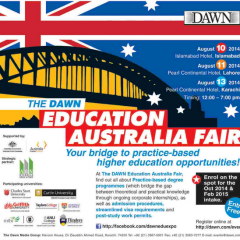 The Dawn Education Australia Fair Islamabad, Karachi & Lahore 2019