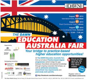 The Dawn Education Australia Fair Islamabad, Karachi & Lahore 2016