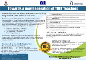 B.Ed in Technical Education, Joint Venture of VU & PU, Career & Scope