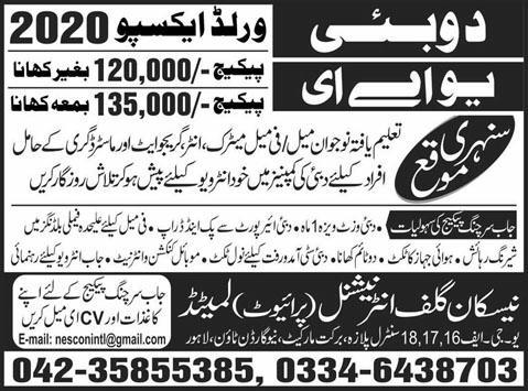 Job Searching Package For UAE Duabai