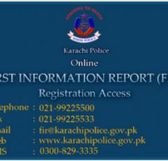 Karachi Police Online FIR & Complaint System-SMS, Fax, Email & Phone Help