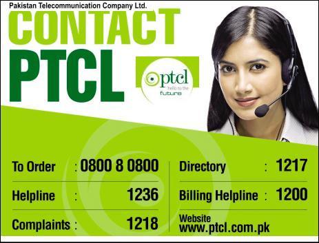 PTCL Helpline Number & PTCL Live Chat