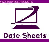 Punjab University MA Supplementary Exam Date Sheet 2020