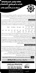 KPK Police Jobs Constable 2017, Date, NTS Form Download & Eligible Candidates List