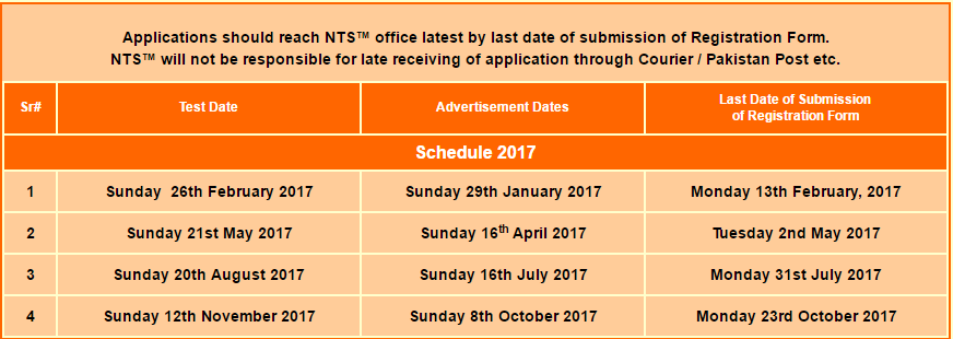 NTS Law-GAT 2019 Registration, Schedule, Roll No Slip & Result