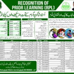 Registration for Ustad Shagird RPL TEVTA Courses – Get Govt Certificate