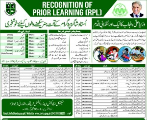 Registration for Ustad Shagird RPL TEVTA Courses 2015-Get Govt Certificate