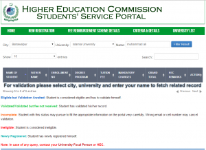 How To Verify Data For PM Fee Reimbursement Scheme 2017 on HEC Site?