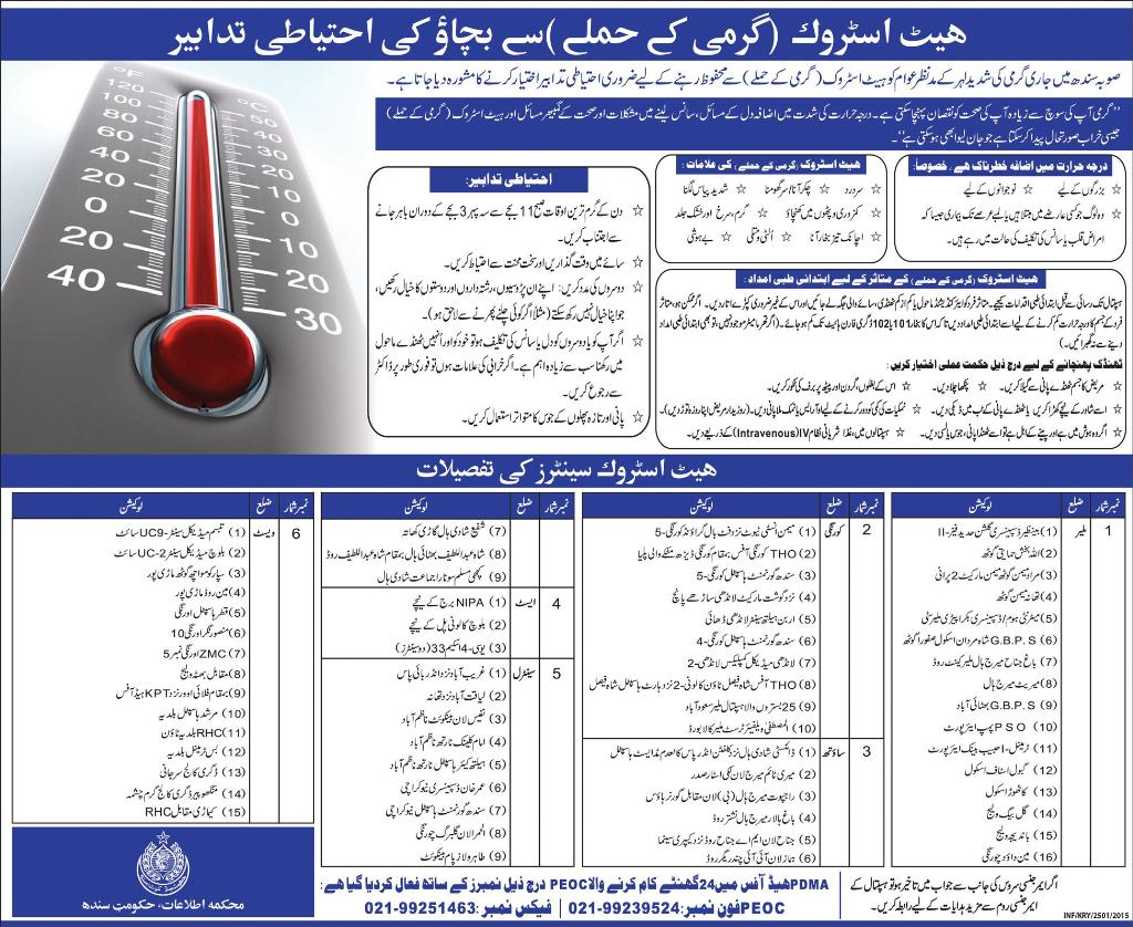 Heat Stroke Causes, Symptoms, Precautions, Treatment in Urdu & English