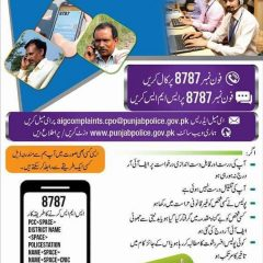 Punjab Police Helpline Number For Call & SMS 8787, Email For Online Complaint