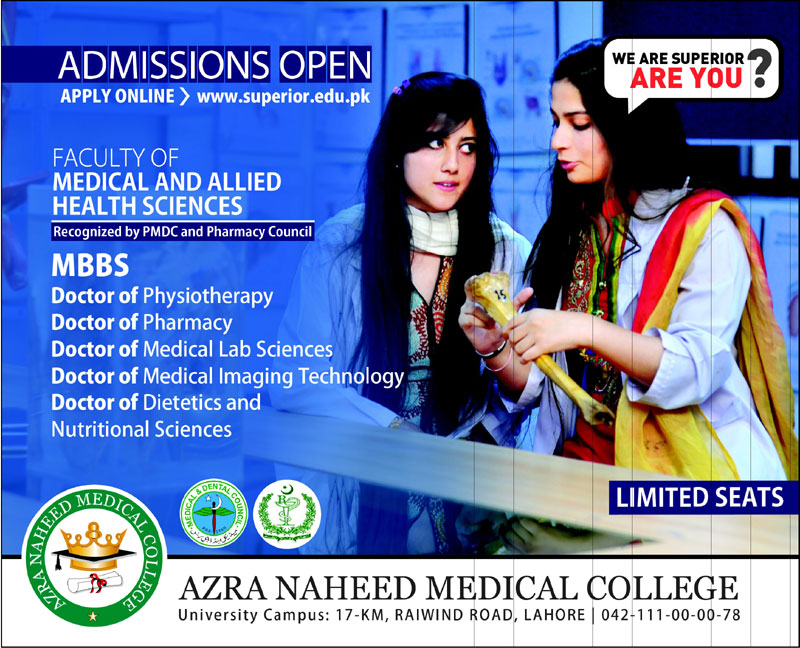 Azra Naheed Medical College Admission 2020
