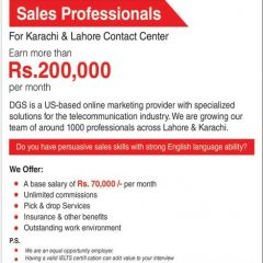 Sales Representative DGS Jobs In Lahore, Karachi 2020 Earn Up To 200,000