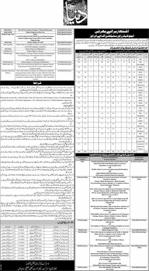 educators Jobs Sahiwal 2017