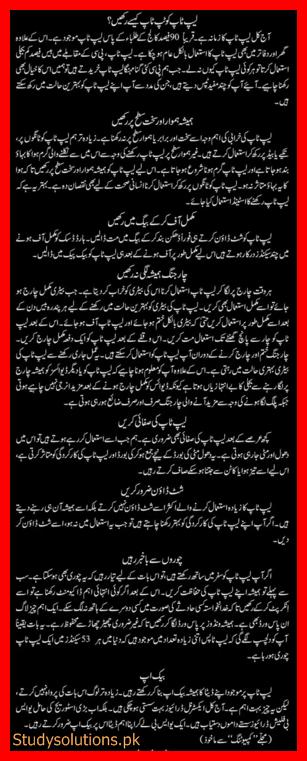 Top Ten Laptop Security & Protection Tips in Urdu & English