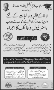PEEF Scholarship 2018 For Students of FATA