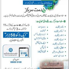 Punjab E Khidamt Markaz, Facilities, Helpline & Forms
