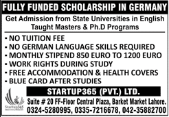Latest Bachelor, Master & PhD Scholarships 2020 in Germany For Pakistani Students