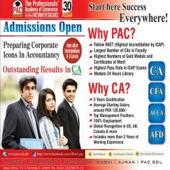 PAC Lahore Admission 2019 CA, ACCA, CFA, AFD