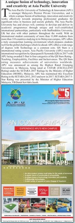 Asia Pacific University APU Malaysia Admission 2020