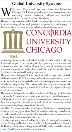 Concordia University Chicago Admission 2021, Scholarships