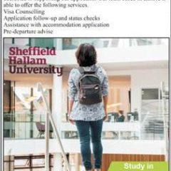 Sheffield Hallam University, England Admission 2021 For Pakistani & Foreign Students