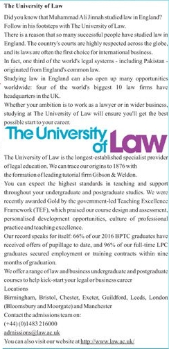 University of Law UK Admission 2021 in LBB (Hons), LLM & GDL