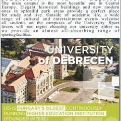 University of Debrecen Hungary Admission 2021 For International Students