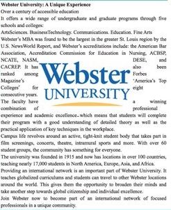 Webster University USA Admission 2020 For International Students