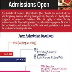 IBA Karachi BS, BBA, MS, PhD & MBA Admission 2021