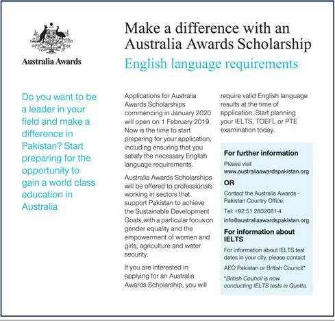Latest Australian Scholarships 2019 For Pakistani Students- Apply Online
