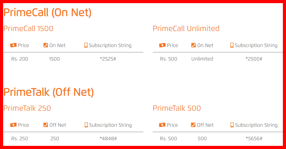 Ufone Call Packages 2020 Postpaid