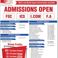 The Smart College FSc, ICS, ICom & FA Admission 2019 & Scholarships