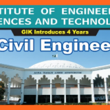 GIK Institute BS Civil Engineering Admission 2019, Merit List