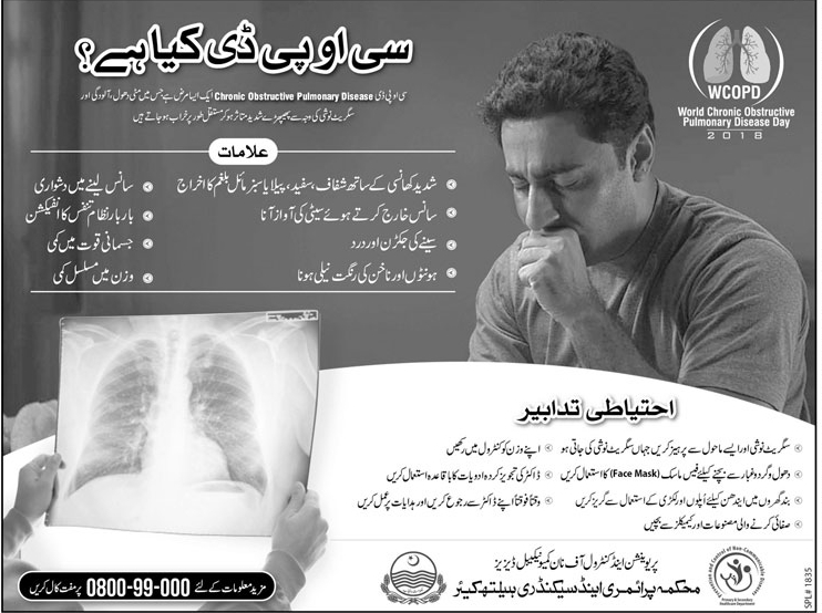 All About Chronic Obstructive Pulmonary Disease (COPD) in Urdu & English