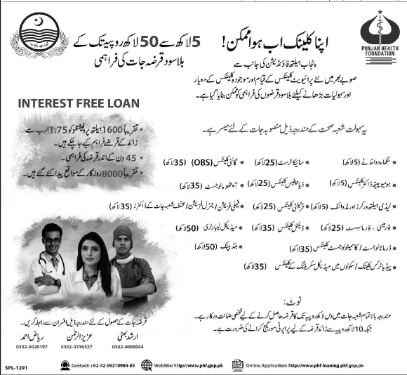 Interest Free Loans For Doctors & Health Professionals in Punjab 2020-21