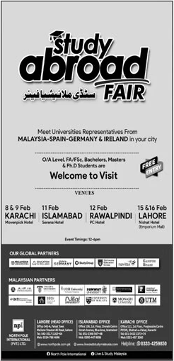 Study in Malaysia Exhibition in Lahore, Karachi & Islamabad 2020