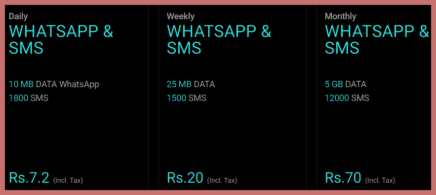 Warid SMS Packages 2020 For Prepaid Customers