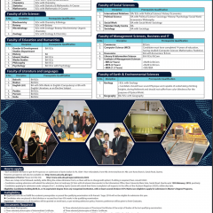 University of Balochistan UOB Quetta MA, MSc Admission 2019