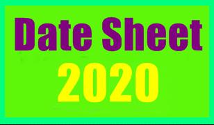 Date Sheet 2020
