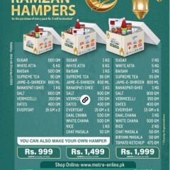 Metro Super Ramadan Offer 2020 With Price List-Latest Promotions For Ramazan