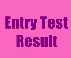 Entry Test Result