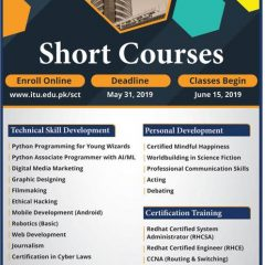 Information Technology University ITU Lahore Admission 2020 in Short Courses