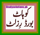 BISE Kohat Board Inter 2nd Year Result 2020 By Name & Roll No