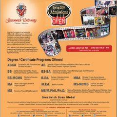 Greenwich University Pakistan & Mauritius Admission 2021