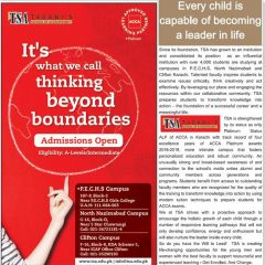 Tabani's School of Accountancy TSA Karachi Admission 2019